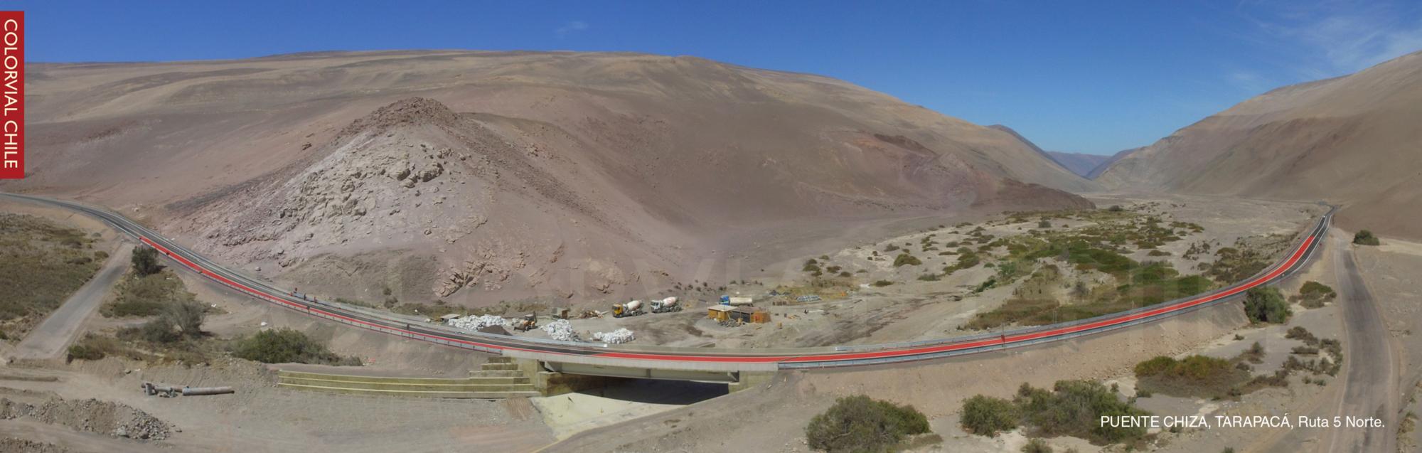 Puente Chiza, Ruta 5 Norte